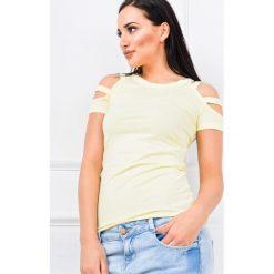 Bluzki asymetryczne: Bluzeczka z paseczkami na rękawach