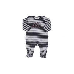 Kanz  Baby Śpioszki black iris - niebieski - Gr.Moda (6 - 24 miesięcy ). Niebieskie śpiochy niemowlęce marki Kanz, z bawełny. Za 75,00 zł.