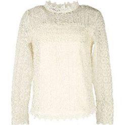 Bluzki asymetryczne: Gładka bluzka, stójka, długi rękaw