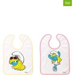 """Śliniaki: Ślinaczki (2 szt.) """"Smurfs"""" z kolorowym wzorem"""