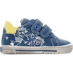 Buty sportowe skórzane zapinane na rzep BALFRED. Niebieskie buty sportowe chłopięce BOPY, ze skóry. Za 214,58 zł.