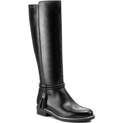 Oficerki EVA MINGE - Roberta 2Z 17SM1372232EF 101. Czarne buty zimowe damskie marki Eva Minge, ze skóry, przed kolano, na wysokim obcasie, na obcasie. W wyprzedaży za 329,00 zł.