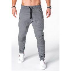 SPODNIE MĘSKIE JOGGERY P709 - SZARE. Szare joggery męskie Ombre Clothing. Za 79,00 zł.