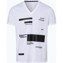 Armani Exchange - T-shirt męski, czarny. Czarne t-shirty męskie marki Armani Exchange, l, z materiału, z kapturem. Za 149,95 zł.