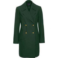 Płaszcz przejściowy bonprix głęboki zielony. Zielone płaszcze damskie pastelowe bonprix, eleganckie. Za 74,99 zł.