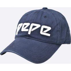 Pepe Jeans - Czapka. Szare czapki z daszkiem damskie Pepe Jeans, z bawełny. W wyprzedaży za 79,90 zł.