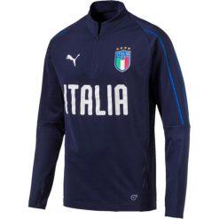 Bluza z golfem, reprezentacja Włoch. Szare bluzy męskie rozpinane marki La Redoute Collections, m, z bawełny, z kapturem. Za 377,96 zł.
