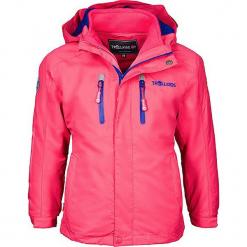 """Kurtka funkcyjna 3w1 """"Myrdal"""" w kolorze różowo-fioletowym. Czerwone kurtki dziewczęce przeciwdeszczowe marki Reserved, z kapturem. W wyprzedaży za 222,95 zł."""