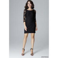 Sukienka L017 czarny. Czarne sukienki koronkowe marki Pakamera, l, mini. Za 199,00 zł.