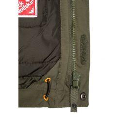 Jack Wolfskin GREAT BEAR Kurtka zimowa woodland green. Niebieskie kurtki chłopięce sportowe marki bonprix, z kapturem. W wyprzedaży za 455,20 zł.