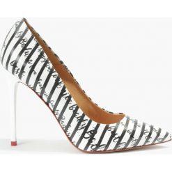 Czółenka multikolor Donna. Szare buty ślubne damskie Badura. Za 169,99 zł.