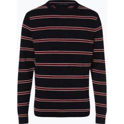 Tommy Hilfiger - Sweter męski z dodatkiem jedwabiu, niebieski. Czarne swetry klasyczne męskie marki TOMMY HILFIGER, l, z dzianiny. Za 549,95 zł.