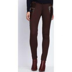 Spodnie damskie: Brązowe Spodnie No One Else