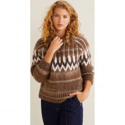 Mango - Sweter Daddy. Brązowe swetry klasyczne damskie Mango, l, z dzianiny, z okrągłym kołnierzem. Za 229,90 zł.