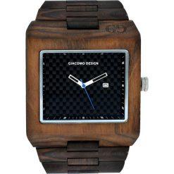 Zegarek Giacomo Design Drewniany męski GD08501. Brązowe zegarki męskie Giacomo Design. Za 415,00 zł.
