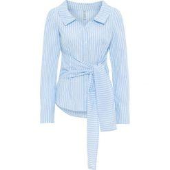 Bluzki damskie: Bluzka bonprix niebiesko-biały w paski
