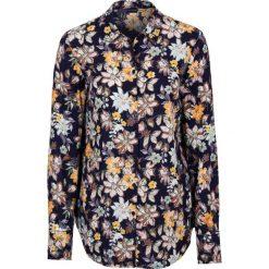 Bluzki damskie: Bluzka w kwiaty bonprix ciemnoniebieski w kwiaty