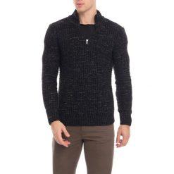 Golfy męskie: Sweter w kolorze czarnym