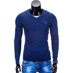 SWETER MĘSKI E74 - GRANATOWY. Zielone swetry klasyczne męskie marki Ombre Clothing, na zimę, m, z bawełny, z kapturem. Za 49,00 zł.