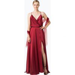 Unique - Damska sukienka wieczorowa, czerwony. Czerwone sukienki hiszpanki Unique, z satyny, wizytowe, z dekoltem na plecach. Za 649,95 zł.