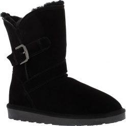 """Buty zimowe damskie: Skórzane kozaki """"Blume"""" w kolorze czarnym"""