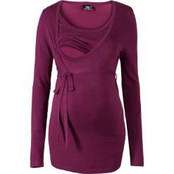 Swetry klasyczne damskie: Sweter ciążowy i do karmienia bonprix jeżynowy
