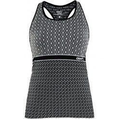 Craft Tank Top Damski Core Block, Czarno-Biały S. Białe topy sportowe damskie marki Craft, s, z materiału. W wyprzedaży za 115,00 zł.