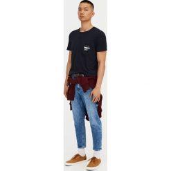 T-shirty męskie: Koszulka z kieszonką z czaszką