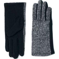 Rękawiczki damskie: Art of Polo Rękawiczki damskie wełniane w jodełkę czarne r. 7.5