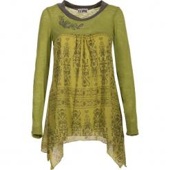 Tunika w kolorze zielonym. Zielone tuniki damskie marki Kéawa, s, z asymetrycznym kołnierzem. W wyprzedaży za 65,95 zł.