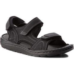 Sandały LANETTI - MSA692-2 Czarny. Czarne sandały męskie skórzane Lanetti. Za 89,99 zł.