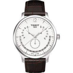 PROMOCJA ZEGAREK TISSOT T-CLASSIC T063.637.16.037.00. Białe zegarki męskie TISSOT, ze stali. W wyprzedaży za 1478,40 zł.