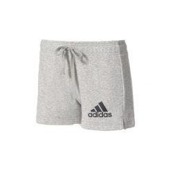 Szorty i Bermudy  adidas  Szorty Essentials Solid Shorts. Szare bermudy damskie marki Adidas, l, z dresówki, na jogę i pilates. Za 99,95 zł.
