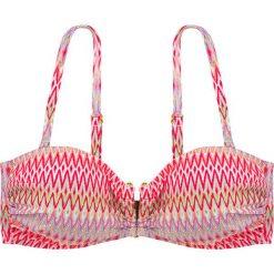 """Biustonosz bikini """"Acapulco"""" w kolorze koralowym ze wzorem. Szare biustonosze marki Esprit. W wyprzedaży za 43,95 zł."""