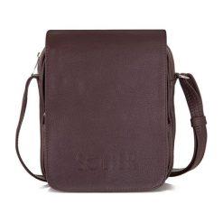Skórzana torba na ramię, raportówka Solier RUSH brązowa. Brązowe torby na ramię męskie marki Kazar, ze skóry, przez ramię, małe. Za 339,00 zł.