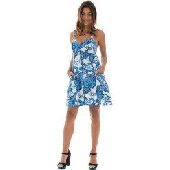 Odzież damska: Sukienka w kolorze biało-niebieskim