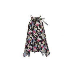 Sukienki: Sukienka damska luźna we wzory, w kwiaty, z koralikami