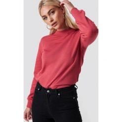 NA-KD Basic Bluza basic - Red. Różowe bluzy damskie marki NA-KD Basic, prążkowane. Za 100,95 zł.
