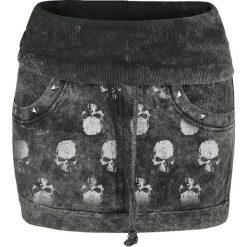 Minispódniczki: Alchemy England Skull Logo Spódnica ciemnoszary