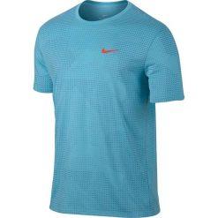 Nike Koszulka męska Dry TEE DBL RUN AOP niebieska r. XL (839518-432). Białe koszulki sportowe męskie marki Adidas, l, z jersey, do piłki nożnej. Za 113,00 zł.