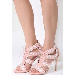 Różowe Sandały Out With It. Czerwone sandały damskie vices, na wysokim obcasie. Za 89,99 zł.