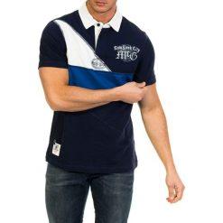 Koszulki polo: Koszulka polo w kolorze granatowym ze wzorem
