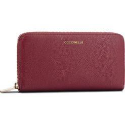 Duży Portfel Damski COCCINELLE - CW5 Metallic Soft E2 CW5 11 04 01 Grape R04. Czarne portfele damskie marki Coccinelle. Za 599,90 zł.