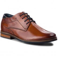 Półbuty BUGATTI - 311-59801-3500-6300 Cognac. Brązowe buty wizytowe męskie Bugatti, z materiału. Za 409,00 zł.