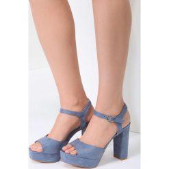 Niebieskie Sandały What They Want. Niebieskie sandały damskie vices, na wysokim obcasie. Za 44,99 zł.