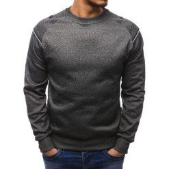 Bluzy męskie: Bluza męska bez kaptura antracytowa (bx1952)