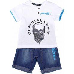 T-shirty chłopięce z krótkim rękawem: 2-częściowy zestaw w kolorze biało-niebieskim