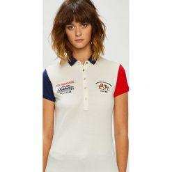 U.S. Polo - Top. Szare topy sportowe damskie U.S. Polo, l, z aplikacjami, z bawełny, z krótkim rękawem. W wyprzedaży za 219,90 zł.