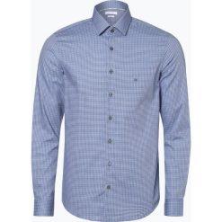 Calvin Klein - Koszula męska łatwa w prasowaniu, niebieski. Pomarańczowe koszule męskie non-iron marki Calvin Klein, l, z bawełny, z okrągłym kołnierzem. Za 299,95 zł.