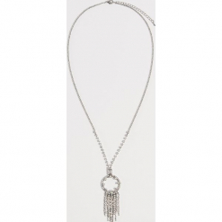 Długi naszyjnik z kryształkami - Srebrny. Brązowe naszyjniki damskie marki Sinsay. Za 29,99 zł.